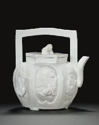 A BLANC-DE-CHINE HEXAGONAL TEA