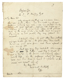 [DICKENS, Charles]. Autograph