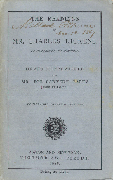 DICKENS, Charles. The Readings