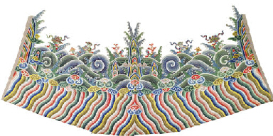 AN EMBROIDERED LISHUI STRIPE F