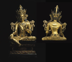 An Imperial gilt bronze figure