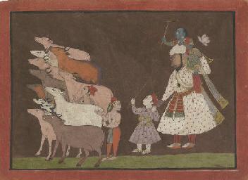 Krishna and Balarama with Cowh