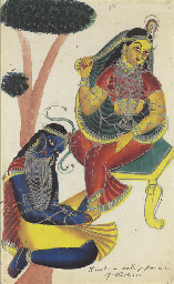 A Kalighat of Laxmi and Sarasw
