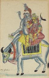 A Kalighat of Umamaheshvara
