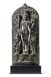 A blackstone stele of Vishnu