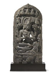 A blackstone stele of Manjushr