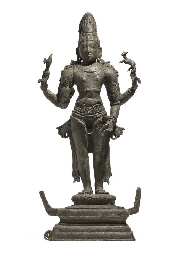 A bronze figure of Shiva