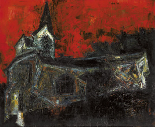 Eglise Ossy-la Ville la Nuit