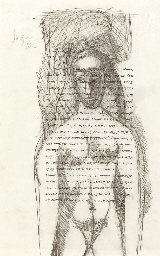Untitled (Nude on text of Baud