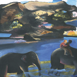 Two Men on an Elephant