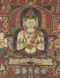 A highly important thangka of