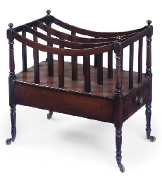 A REGENCY MAHOGANY THREE DIVIS