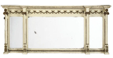 A REGENCY PAINTED OVERMANTEL M