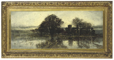 A flooded Norfolk landscape