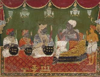 King visiting a guru