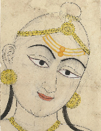 A colored drawing of a Vaishna