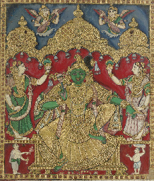 Krishna with attendants