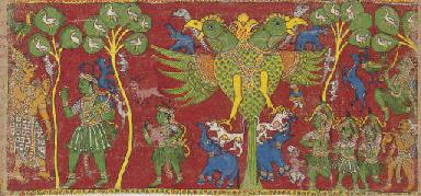 Mythological narrative with Ga