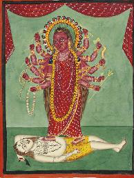 Bhairavi dancing on Shiva