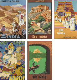 Five posters for See India Tou