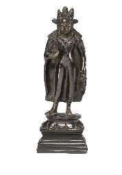 A Bronze figure of a Crowned B