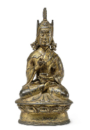 A gilt bronze figure of Padmas