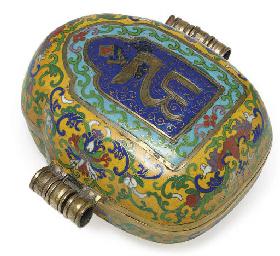 An unusual cloisonne gau box