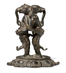 A rare bronze figure of embrac