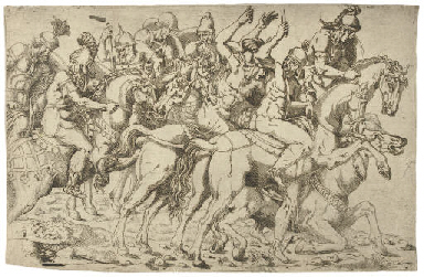 Cavalry Scene, from The Frieze