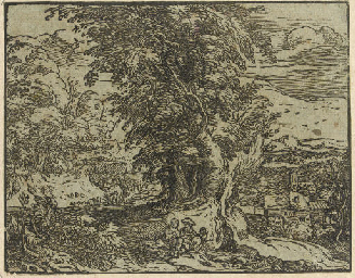 Landscape with Trees and a She