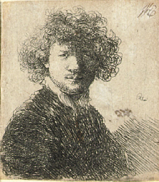 Self Portrait with curly Hair
