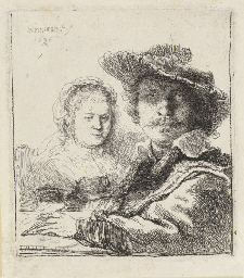 Self-Portrait with Saskia (B.,
