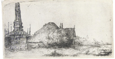Landscape with an Obelisk (B.,