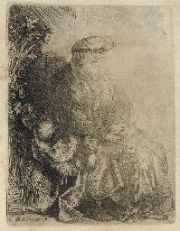 Abraham caressing Isaac (B., H