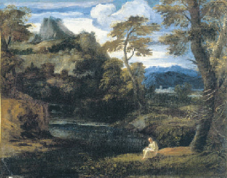 A hermit saint in a landscape