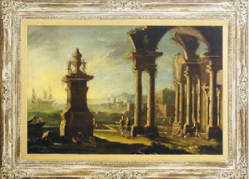 A capriccio of a port with fig