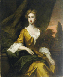 Portrait of a lady in a saffro