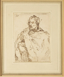 Portrait of a man with cloak;