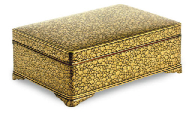 A JAPANESE GILT-OVERLAID BOX W
