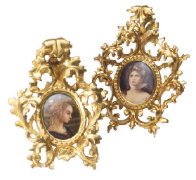AN ITALIAN PORCELAIN PLAQUE AN