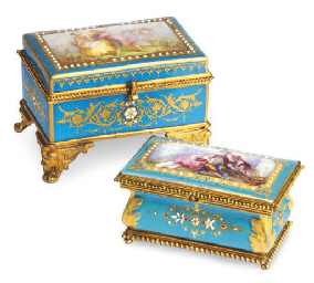 A GILT METAL MOUNTED SEVRES-ST