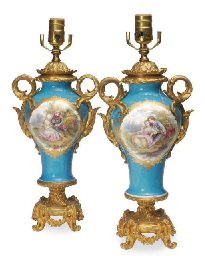 A PAIR OF GILT METAL-MOUNTED S