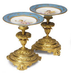 A PAIR OF GILT-METAL-MOUNTED S