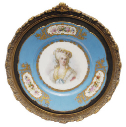 THREE SÈVRES STYLE TURQUOISE-G