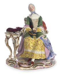 AN AUSTRIAN FIGURE OF A LADY,