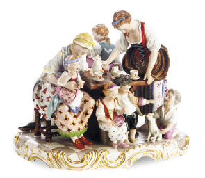 A VIENNA-STYLE PORCELAIN GROUP