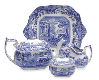 AN EXTENSIVE STAFFORDSHIRE BLU