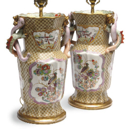 A PAIR OF ENGLISH EARTHENWARE
