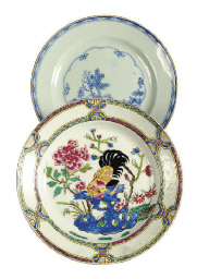A CHINESE EXPORT PORCELAIN BLU