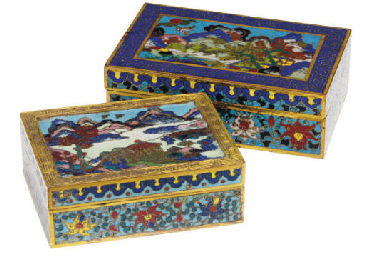 TWO CHINESE CLOISONNÈ ENAMEL A